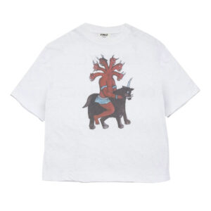 YMC Camiseta 6 Demon Head Triple - Ecru