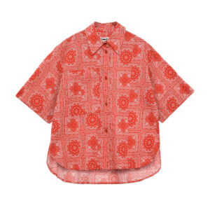 YMC Eva Lawn Bandana Shirt – Red