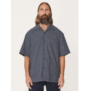 YMC Mitchum Cotton Sashiko Shirt – Navy