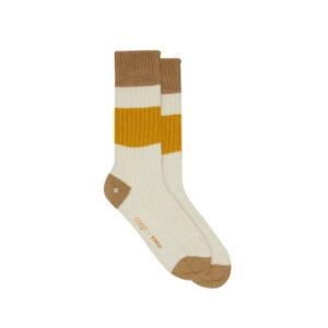 YMC Calcetines Sport Cotton Rib Sport - Ecru / Sand