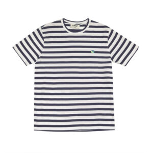 YMC Wild Ones Stripe T-Shirt – White / Navy