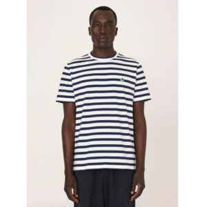 YMC Camiseta Wild Ones Stripe - White / Navy