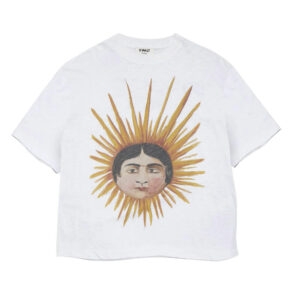 YMC Camiseta Sun Head Triple - Ecru