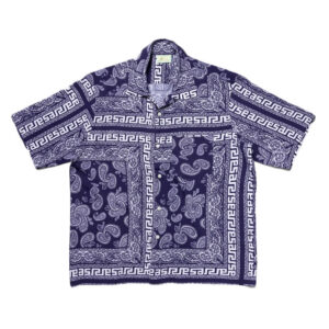 ARIES BANDANA PRINT SHIRT NAVY