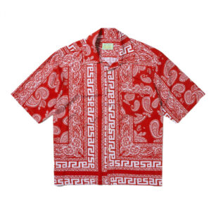 ARIES BANDANA PRINT SHIRT RED