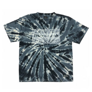 MANASTASH Camiseta Tie Dye Leaf Logo - Black